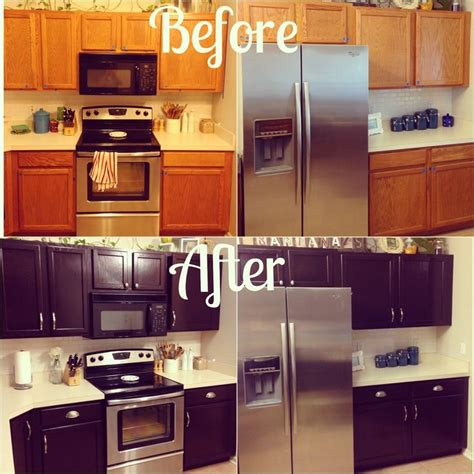 how to stain oak kitchen cabinets 25 best ideas about oak cabinet makeovers on 8911