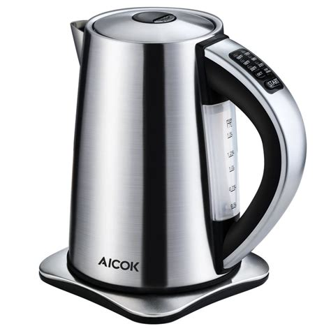 kettle electric stainless tea steel temperature aicok kettles control water cordless precise variable settings coolest liters hamilton beach liter amazon