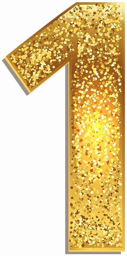 Number Clip Clipart Shining Numero Glitter Letter