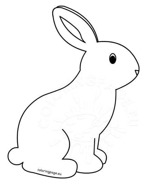 printable rabbit coloring pages  kids coloring page