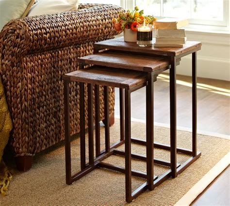 Pottery Barn Nesting Tables by Granger Nesting End Tables Pottery Barn