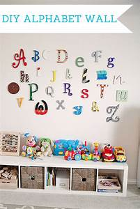 wooden alphabet letters for nursery wall thenurseries With abc wooden wall letters