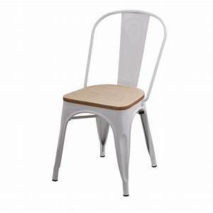 Chaise Blanche Bois : chaise factory blanche et bois lot de 2 koya design ~ Teatrodelosmanantiales.com Idées de Décoration