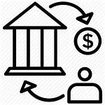 Transfer Wire Icon Bank Money Exchange Process