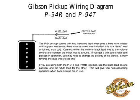 gibson p94 wiring gibson wiring diagram p 94r and p 94t