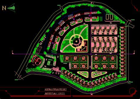 Housing Master Plan DWG Plan for AutoCAD ? Designs CAD