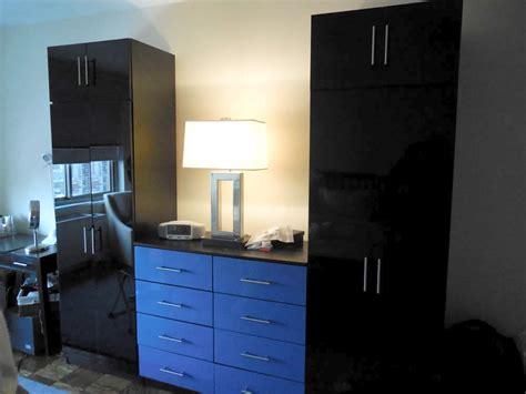 wardrobe closets and custom dresser in black zebrano