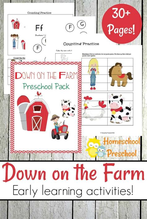 free on the farm preschool pack 30 pages free 152   1aff 44
