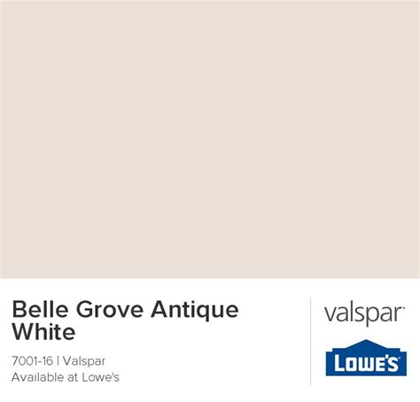 belle grove antique white from valspar paint colors