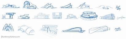 Concept Architecture Museum Process Environment Sketch Designs