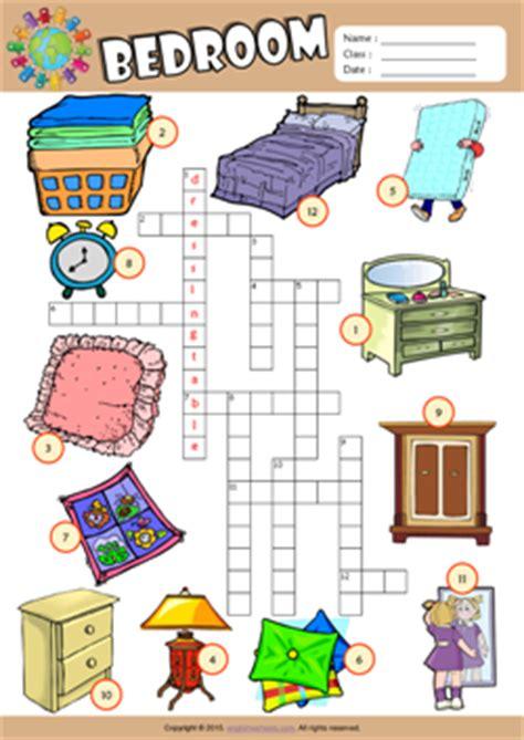 bedroom esl printable worksheets  kids