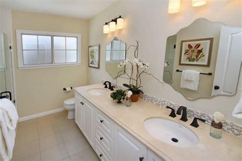 Beautiful Bathroom Installation Feature Linen Look Floor