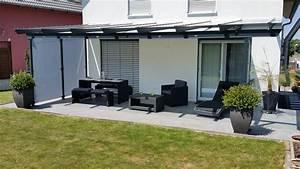 Terrassenüberdachung Glas Stahl : terrassen berdachung mit windfang aus glas g ppingen ~ Articles-book.com Haus und Dekorationen