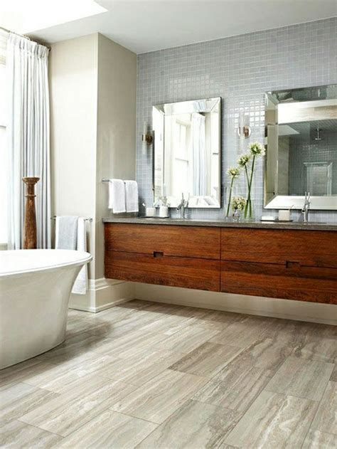 bad waschtisch holz waschtisch aus holz f 252 r mehr gem 252 tlichkeit im bad