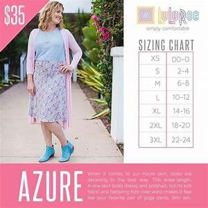 Lularoe Chart 2016 Lularoe Azure Skirt Sizing Chart Lularoe Sizing