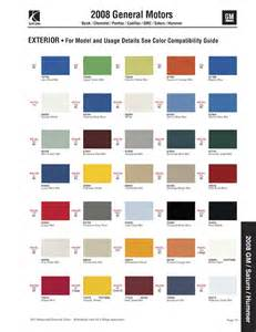 2011 cadillac cts colors paint chips 2008 gm