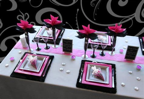 couleurs du mariage table noel rose idee decoration