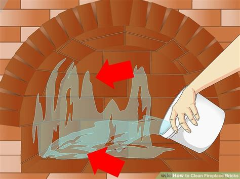 clean fireplace bricks  steps  pictures