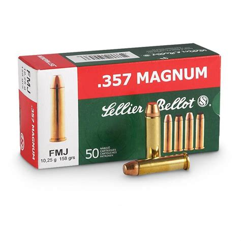 sellier bellot 1 000 rds 158 grain 357 magnum fmj ammo 429 39 shipped free s h no