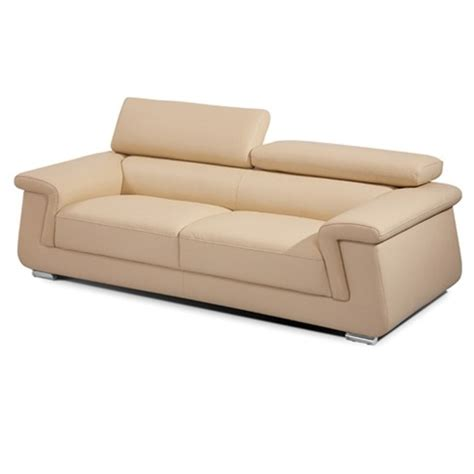 beige leather sofa and chair