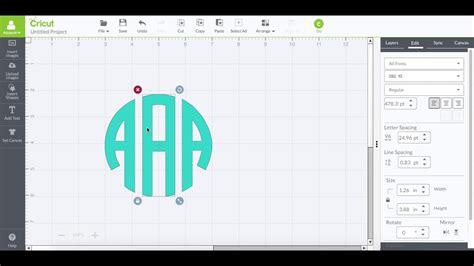 true type circle monogram font  cricut design studio youtube
