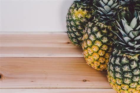 stock photo  bench fruit pineapple
