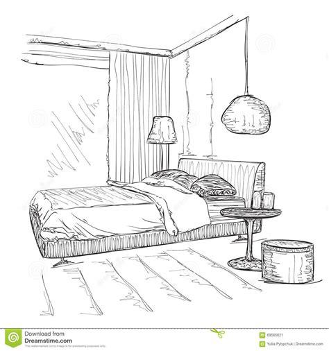 croquis de chambre dessin dans un chambre idées novatrices de la conception