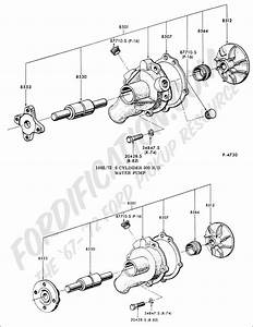 Water Pump Embly Diagram  Water  Free Engine Image For