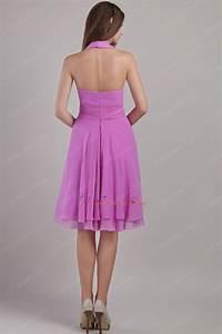 Halter Top Short Chiffon Lilac Sweet Sixteen Dress