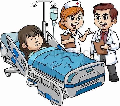 Patient Hospital Cartoon Clipart Female Doctor Staff