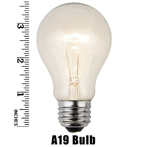 e26 and sign bulbs a19 transparent clear 25 watt