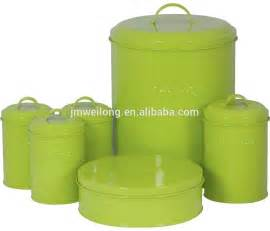Lime Green Kitchen Canisters Chic Retro Large Enamel Metal Bird Feed Storage Box Tin Bin Container Buy Tin Storage