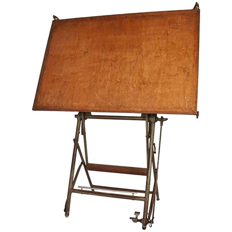 Vintage Architect Drafting Table, Circa 1940 For Sale At