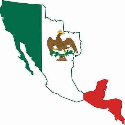 Flag Mexican Mexico Map Empire Eagle Svg