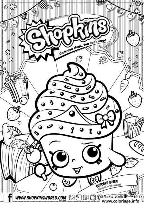 Shopkin Cookie Free Coloring Pages