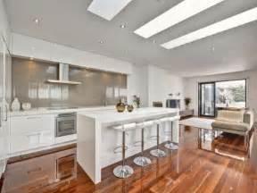 c kitchen ideas modern galley kitchen design using floorboards kitchen