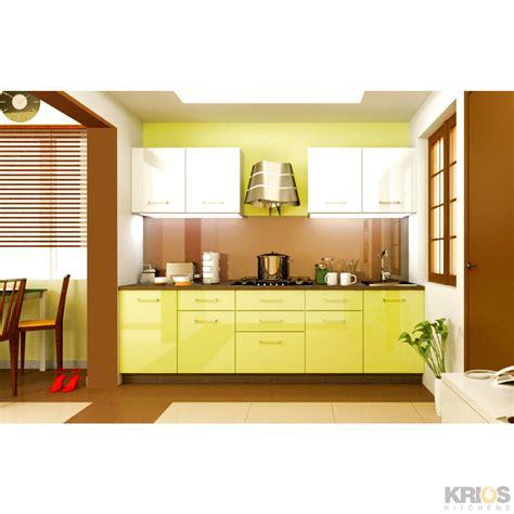 galley kitchen cabinets bright citron modular kitchens 1153