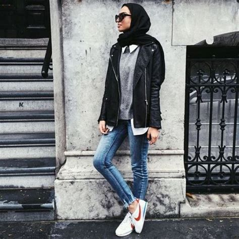 casual fall trends  hijab  trendy girls
