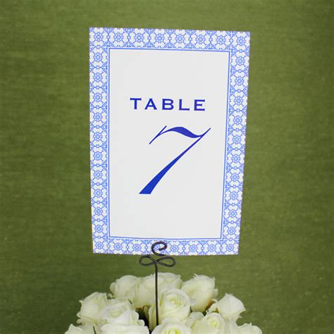 printable reception table number template  print