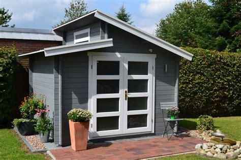gartenhaus grau pultdach gartenhaus grau wei 223 moderner gartentrend mit stil