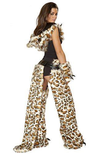 Sexy Men and Women Cheetah Faux Fur Chaps Halloween
