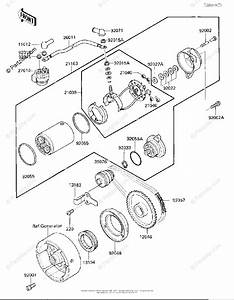 Kawasaki Atv 1986 Oem Parts Diagram For Starter Motor