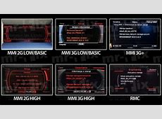 Audi navigation systems MMI RNS BNS RMC differences mr