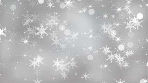 Silver Pink Snowflake Background by White Glitter Background Seamless Loop Winter Theme Vj
