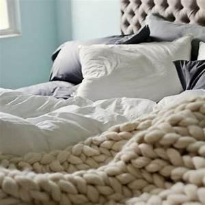 Tricoter Un Plaid En Grosse Laine : comment tricoter un plaid xxl en grosse maille ~ Melissatoandfro.com Idées de Décoration