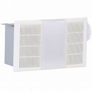 70 cfm ceiling exhaust fan with light 668rp the home depot for How many cfm for bathroom fan
