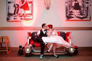 A 1950'S Rockabilly Wedding With The Coolest Car Couch