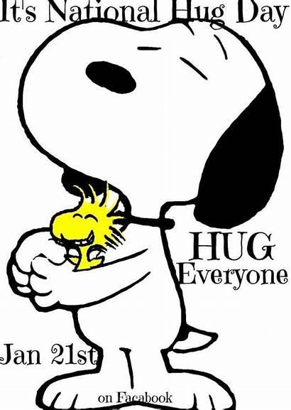 Snoopy Hug National Hugging Peanuts Woodstock January