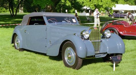 Type 57 bugattis were fitted with a 3,257cc straight eight double. 1934 Bugatti Type 57 convertible   Richard Spiegelman   Flickr