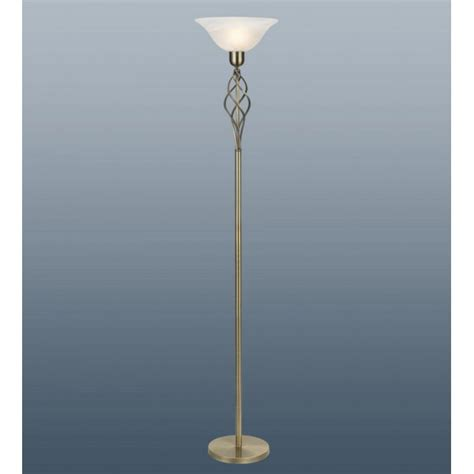 style glass torchiere floor l torchiere floor l in antique brass finish c w murano